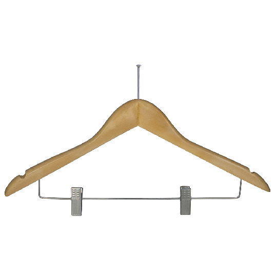Anti-theft hanger with skirt clips
