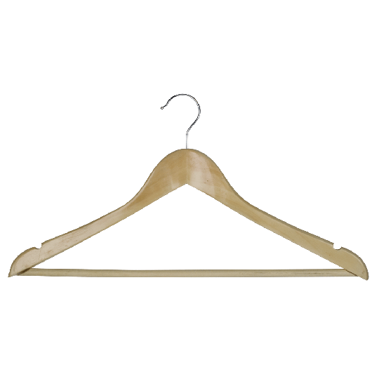 Deluxe Hooked hanger with bar