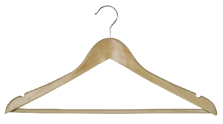 Hooked hanger with bar